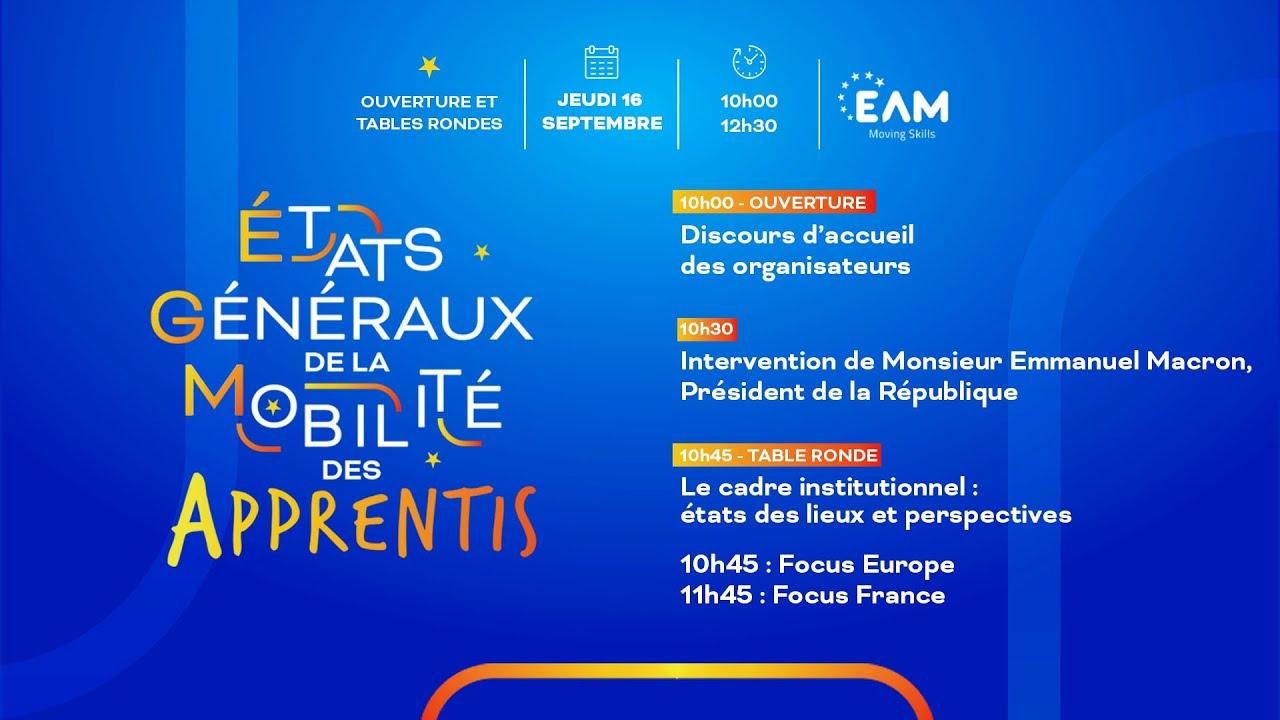 Euro App Mobility (EAM) organise les états généraux de la mobilité des apprentis.