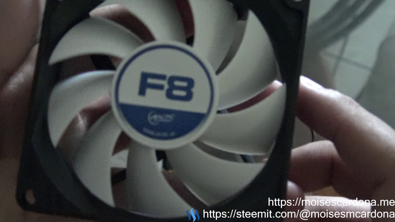 unboxing and testing arctic f8 80mm pc fan [ 1280 x 720 Pixel ]