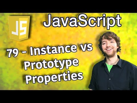 JavaScript Programming Tutorial 79 - Instance Properties vs Prototype Properties thumbnail