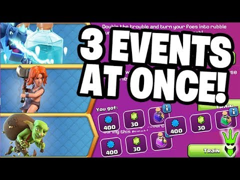 COMPLETING 3 EVENTS AT ONCE - Free To Play TH10 - Clash Of Clans