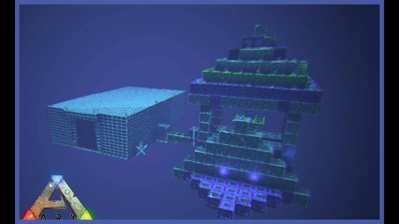 FLOATING UNDERWATER BASE - Ark Survival