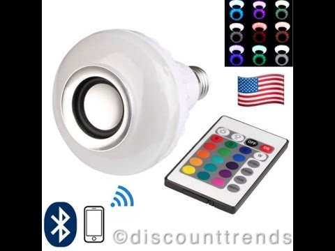LED Bluetooth Speaker Bulb Wireless 12W Power Music Playing Light