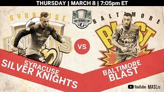 Syracuse Silver Knights vs Baltimore Blast - Eastern Div, Game One
