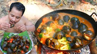 Snail Mala Recipe Eating Hot Spicy - Cooking Snail Food Spicy Curry Recipe eating So Delicious