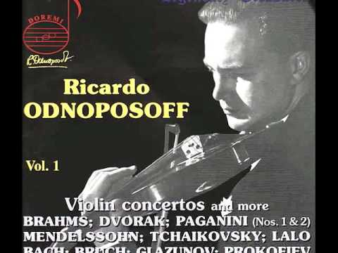 Ricardo Odnoposoff plays Song of the Black Swan by Villa-lobos