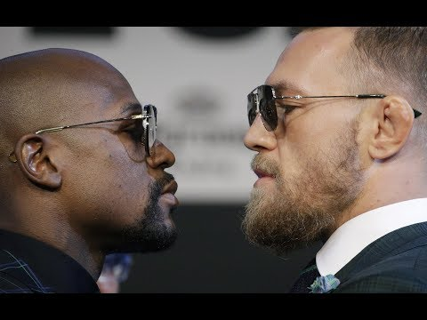 Floyd Mayweather and Conor McGregor weigh in before fight – watch live