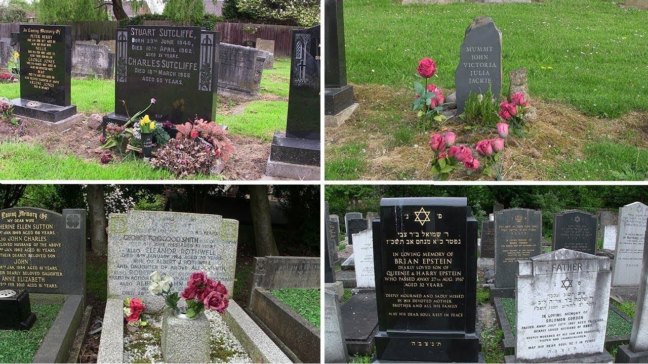Gravesites Of Mary McCartney Julia Lennon Stuart Sutcliffe Brian Epstein George Toogood Smith