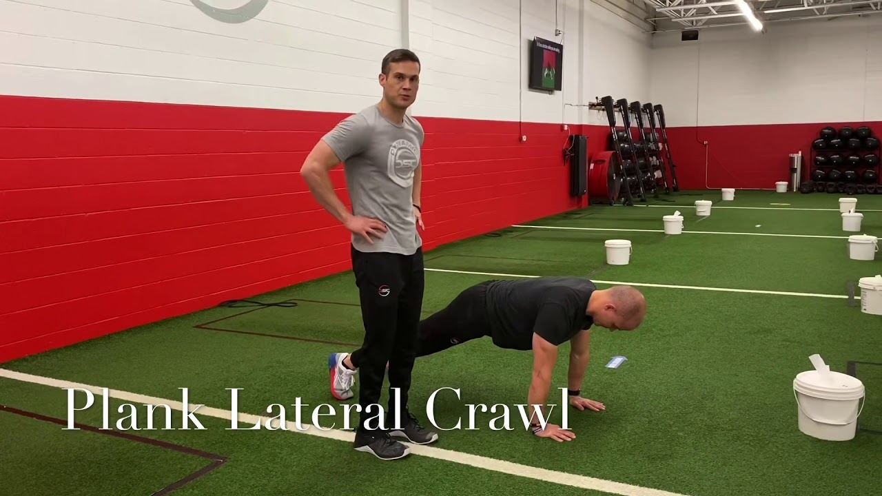Plank Lateral Crawl