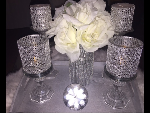 Dollar Tree Diy 💎💎 Bling Vase Amp Candles Holders💎💎 Bling