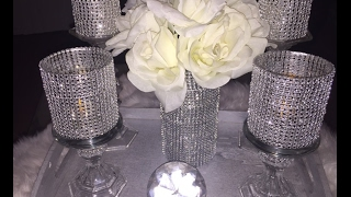 Dollar Tree DIY 💎💎 Bling Vase & Candles/Holders💎💎 Bling Bling Everything