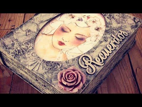 Caja libro mixed media vintage - conideade