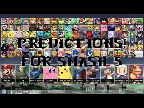 discussion super smash bros 5 character roster predictions youtube