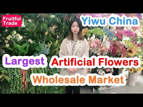 YIWU- Artificial Flowers Cheapest Wholesale Market