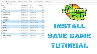 How to install Save Game [Tutorial] - My Summer Car #50