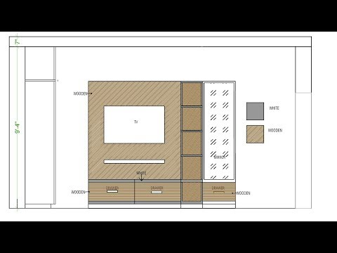 Living room के लिए सबसे बेस्ट टीवी कैबिनेट डिजाईन ! Tv unit design for livingroom & bedroom 2019