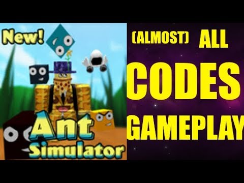 ALL CODES IN ANT SIMULATOR + GAMEPLAY! Roblox