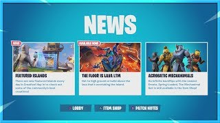 FORTNITE NEW LTM THE FLOOR IS LAVA GAMEPLAY! NEW LIMITED TIME GAMEMODE! FORTNITE BATTLE ROYALE!