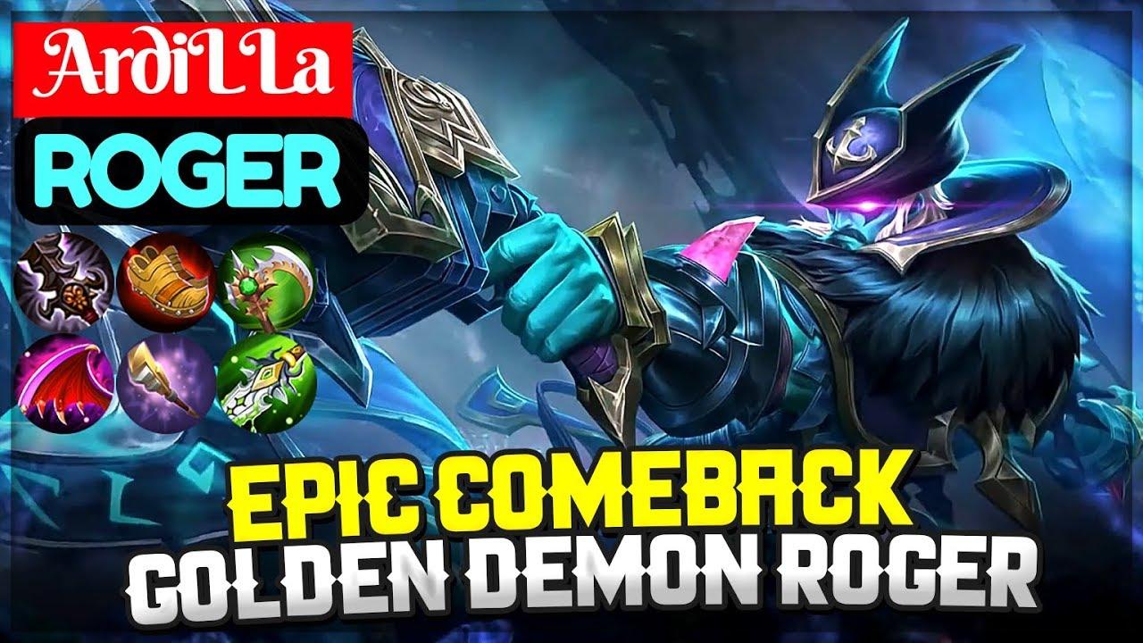 Epic Comeback, Golden Demon Roger Build [ Top Global Roger