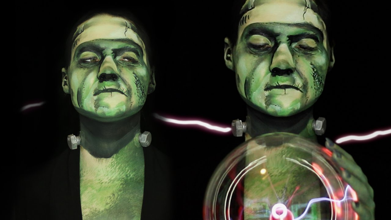 Frankenstein\'s MONSTER Makeup Tutorial/Collab! - YouTube