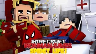 IRON MAN SAVES SPIDER-MANS LIFE - Minecraft Adventure