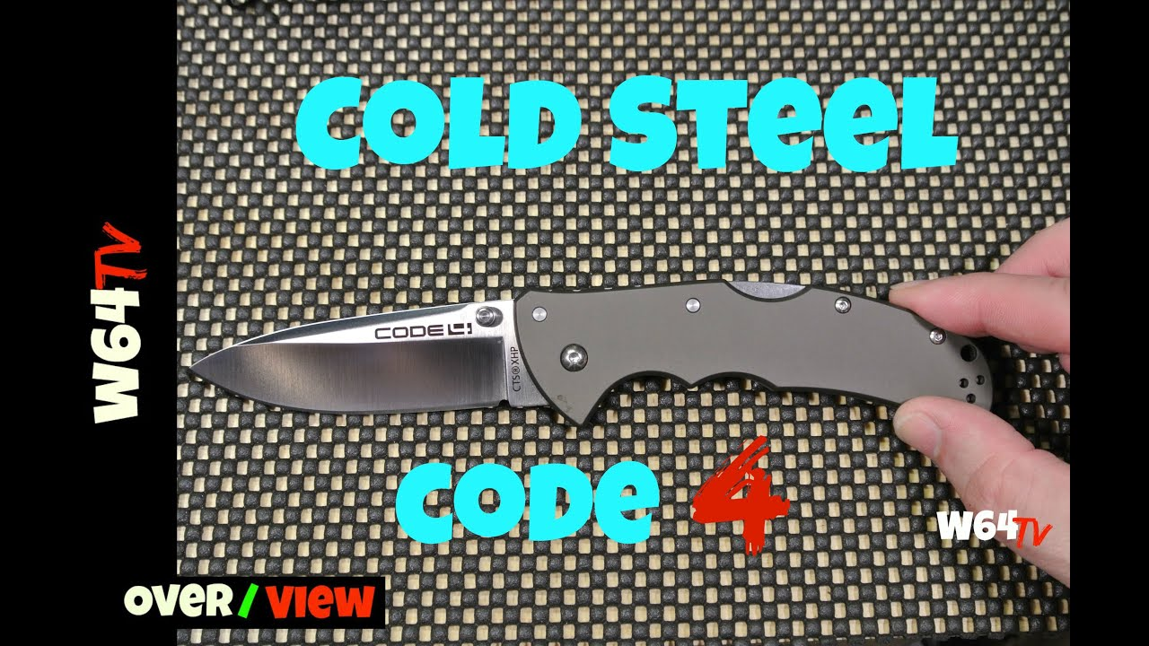 Нож Cold steel CODE 4 spear point Обзор - YouTube