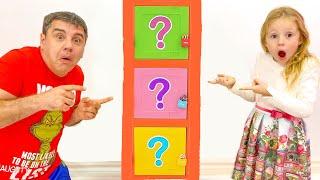 Nastya dan ayah tantangan misterius di rumah, tantangan lucu untuk anak-anak