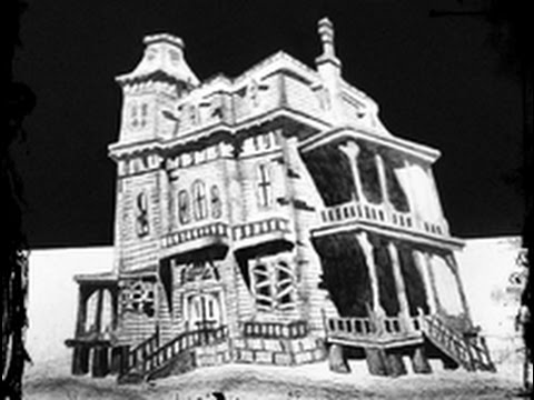 3d drawing on paper speed drawing of a haunted house happy halloween youtube