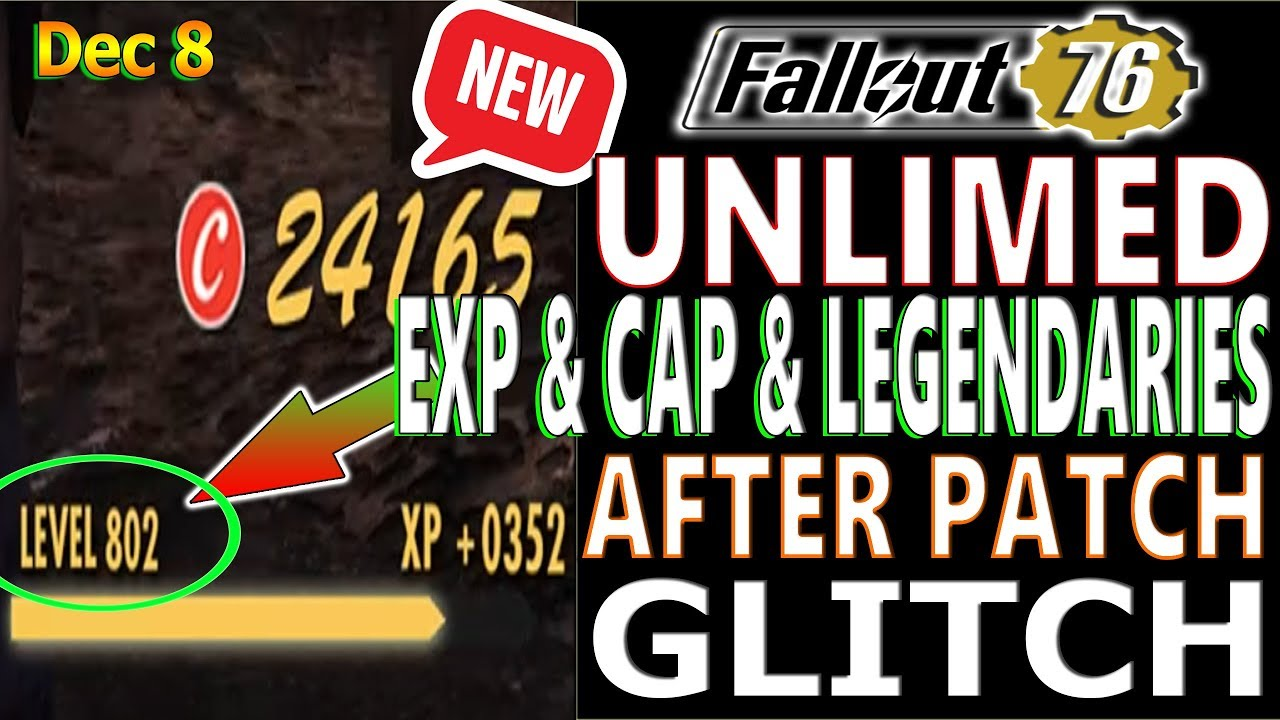 NEW UNLIMITED EXP & CAPS & LEGENDARIES GLITCH | Fallout 76 | AFTER PATCH |  WORKS ON PC/PS4/XBOX
