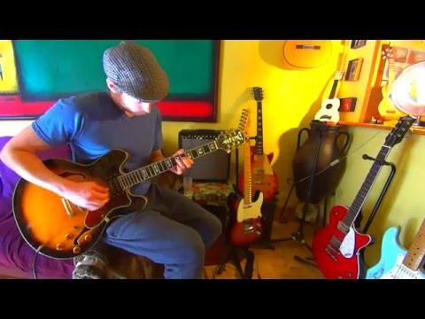 Epiphone Sheraton II w/ Fender Champion 40W & Ditto Looper Pedal ~ Moreneta blues