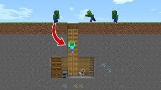 GİZLİ EVE ZOMBİLER SALDIRIYOR! 😱 - Minecraft