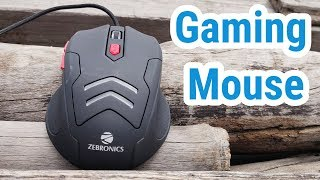 Gaming Mouse with Free Mouse Pad Unboxing amp Review - Zebronics Zeb Feather