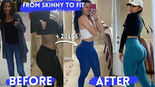 My Fitness Journey   Fŗom Skinny to Fit *with pictures*