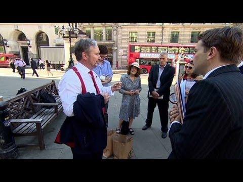 Take a tour of London's financial crisis