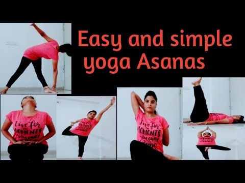 simple and easy yoga poses yoga asanas for beginners