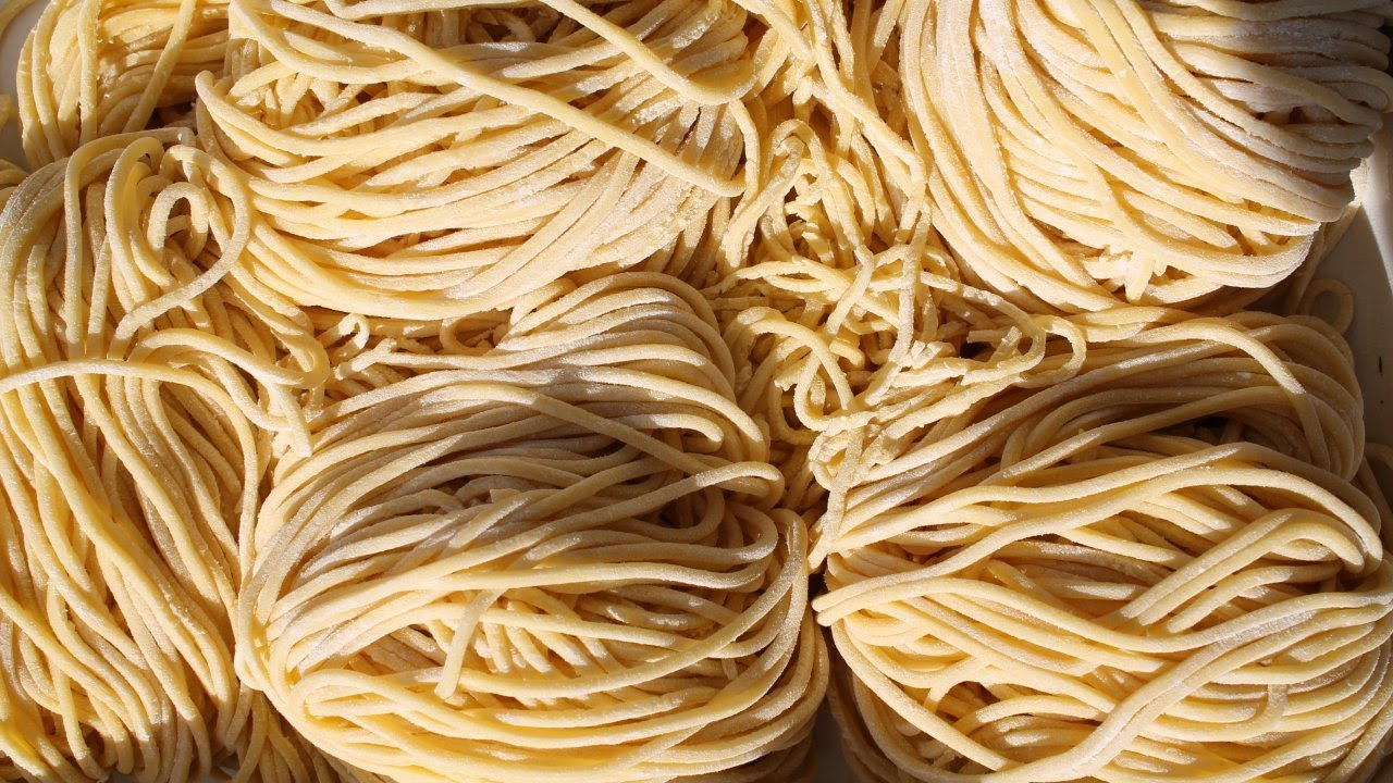 How to make egg noodles pasta machine
