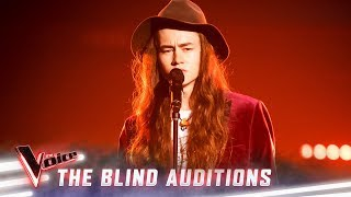 The Blind Auditions: Conor Smith sings 'I'm On Fire' | The