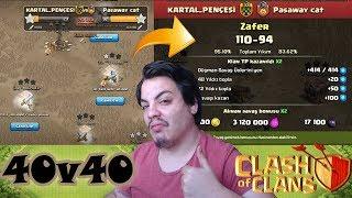 TEK KOMUTAN 40v40 KLAN SAVAŞI (Yine Ezdik) Clash of Clans