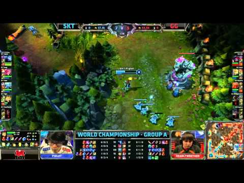 SKT vs GG | SK Telecom T1 vs GamingGear.EU | Worlds 2013 Day 3 Group A | Full game HD