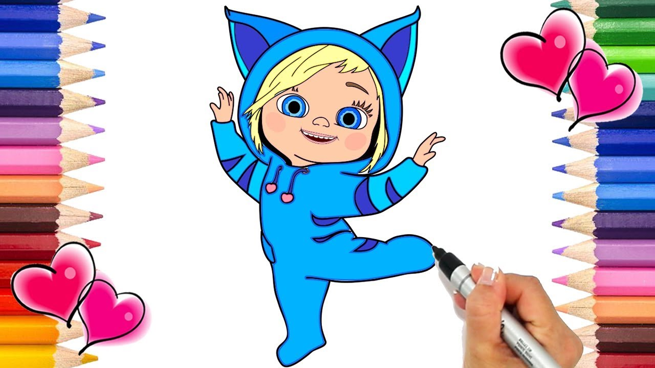 Dave and Ava Coloring Page   How to Draw Dave and Ava   Dave and Ava ...
