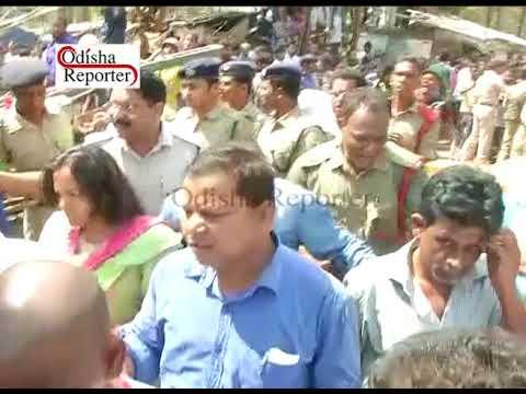 Bomikhal underconstruction overbridge collapsed in Bhubaneswar