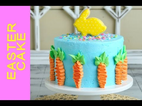 How To Make Pretty Easter Cake Decorating With Buttercream Youtube