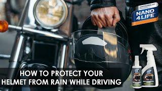 Protect your Helmet | Nano4-Helmet&Visor | by NANO4LIFE