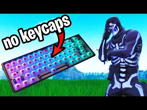 Playing Fortnite With NO KEYCAPS... (I Actually WON!)