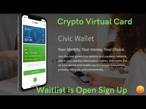 #Civic Wallet Signup | Move up the waitlist | Launches #Fall | Virtual #Crypto Card