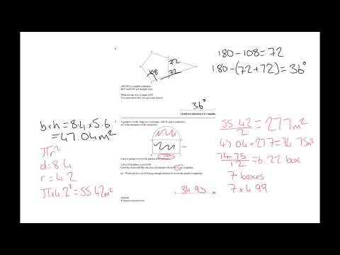 Year 11 maths mock 1MA13H