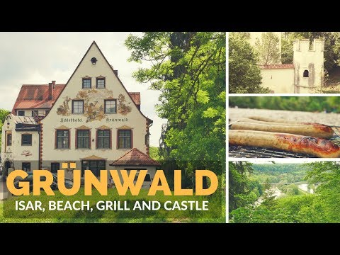 Grunwald, Isar, Beach, Grill and Castle - Travel Germany [4k]