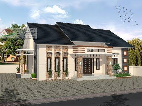 Modern House (13x10) 4 K. Tidur. Desain Rumah Minimalis Lantai  1