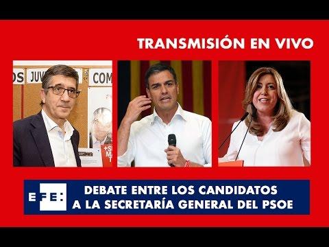 Debate entre los tres candidatos a la secretaría general del PSOE
