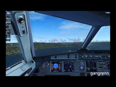 FSX - A320 Extended Approach + manual Landing at Nice côte d'azur