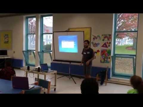 Eagle Gamma speaking at Bentley Academy Charter School